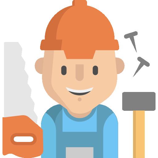 Artisans avec des outils icones