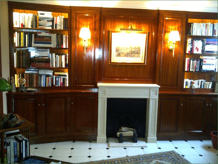 Chambre agencée en bois sur mesure