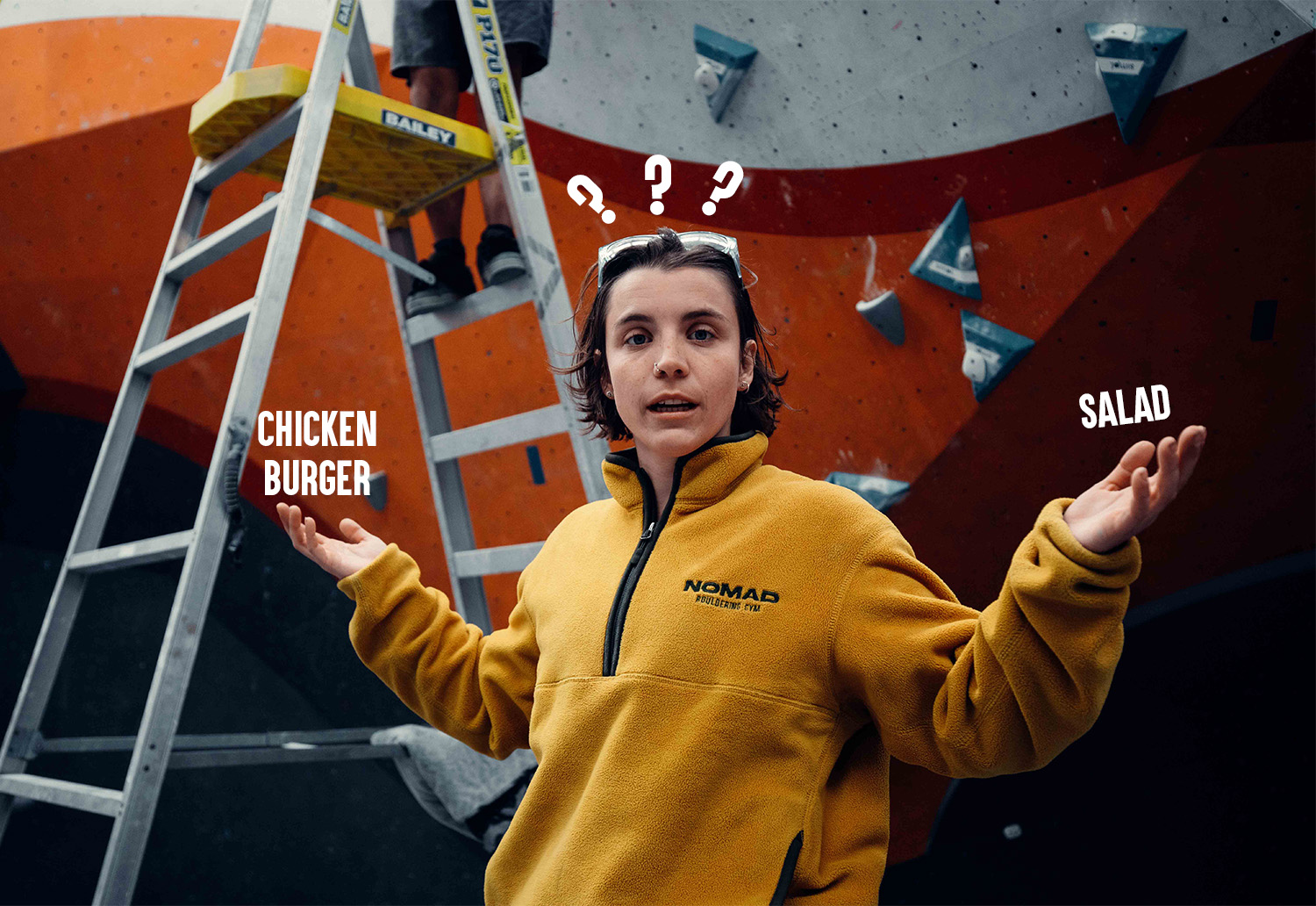 Chicken burger (or tofu) or Greek salad? Why rock climbing nutrition is a game changer.