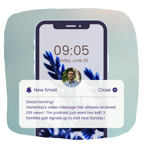 Example phone notification from Abuzz