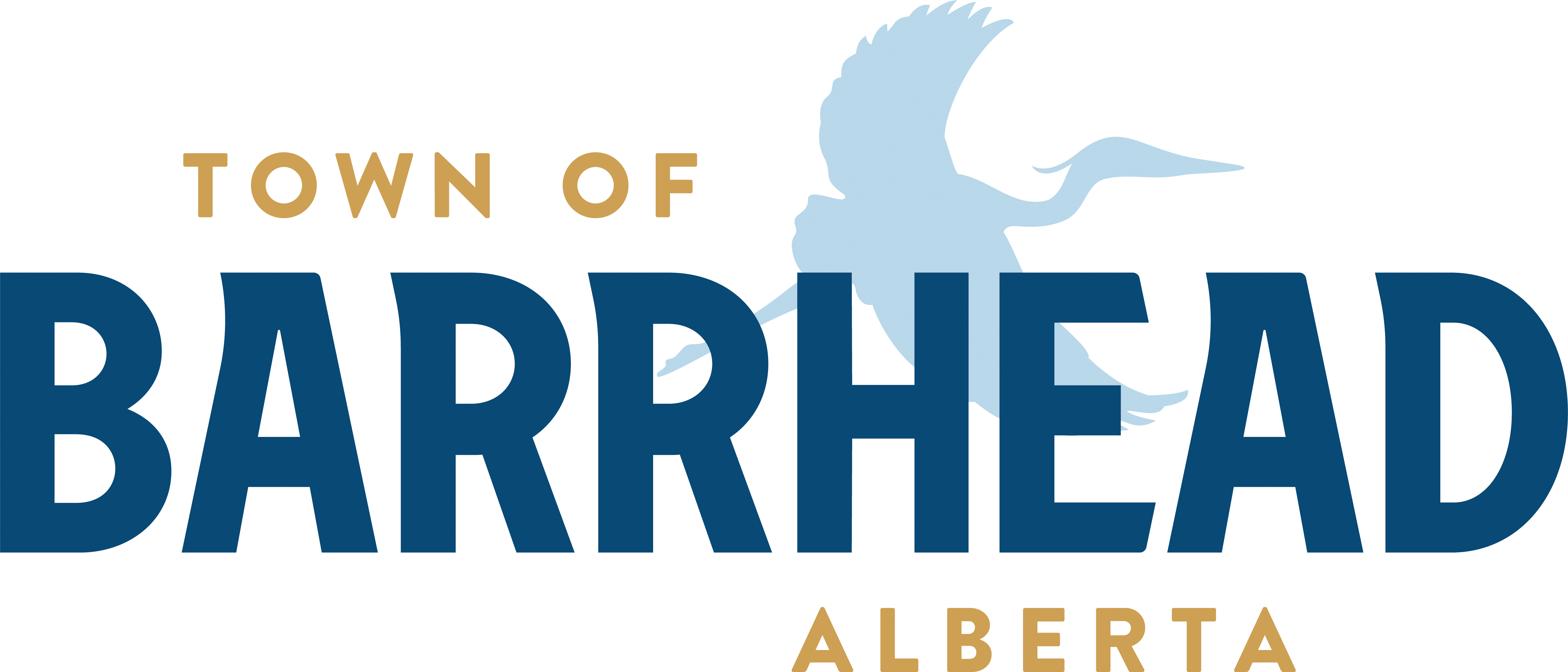 Town of Barrhead Logo with blue heron