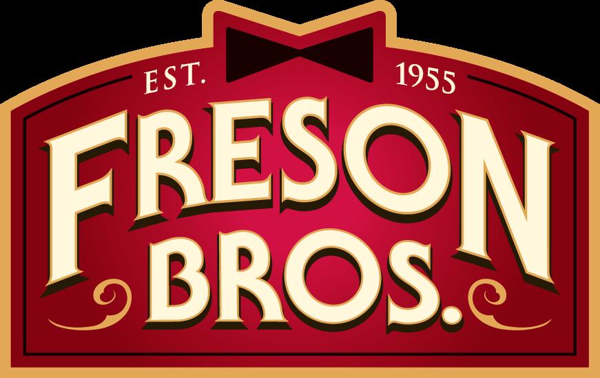 Freson Bros Logo.  Red.  Established 1955.