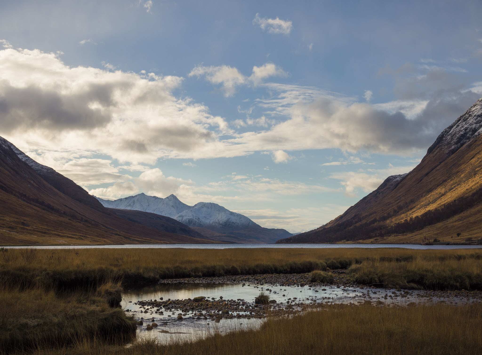 view of the Scottish Highlands near Glencoe