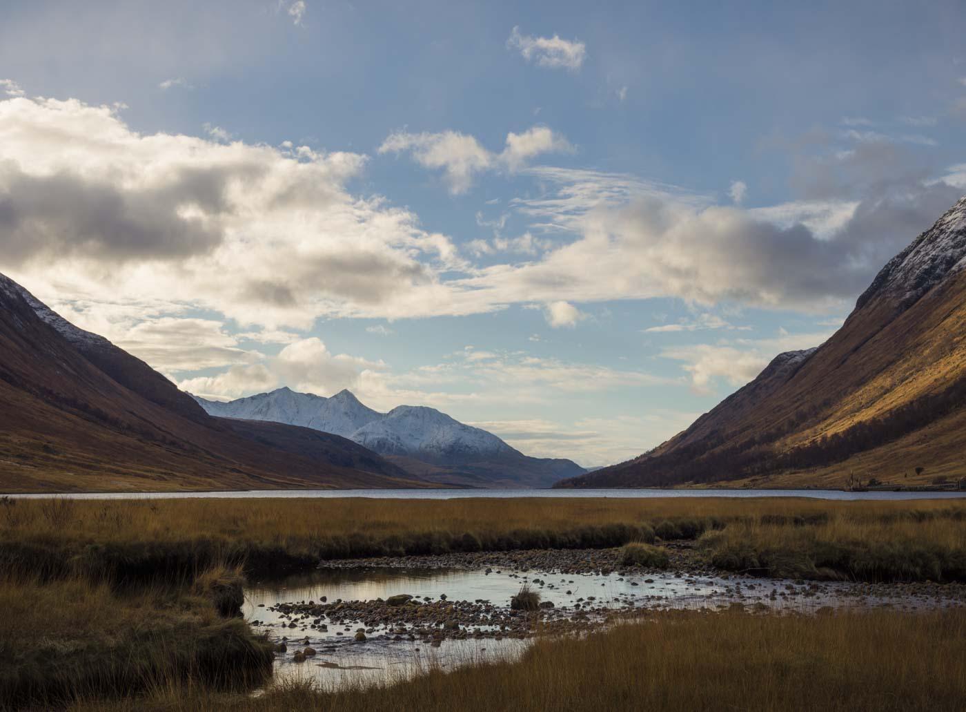 photograph of the Scottish highlands near Glencoe.