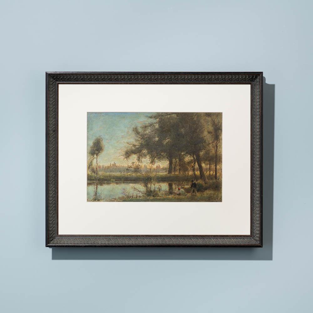 William ornate darkwood custom picture frame