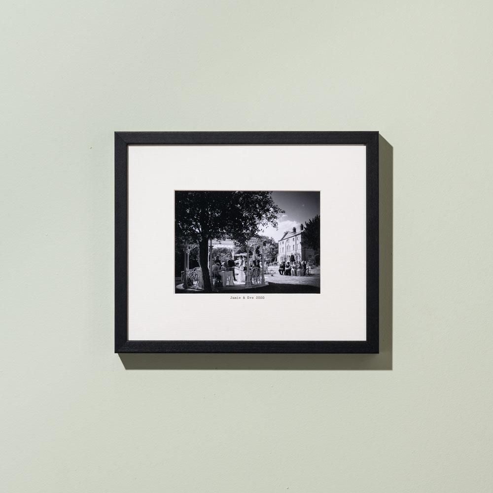 Ansel matte black custom picture frame