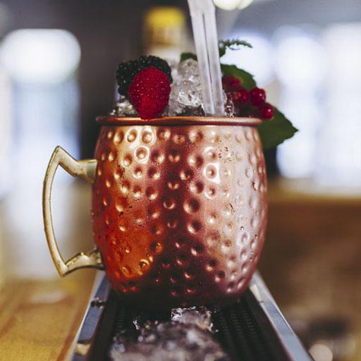 copper cocktail glass