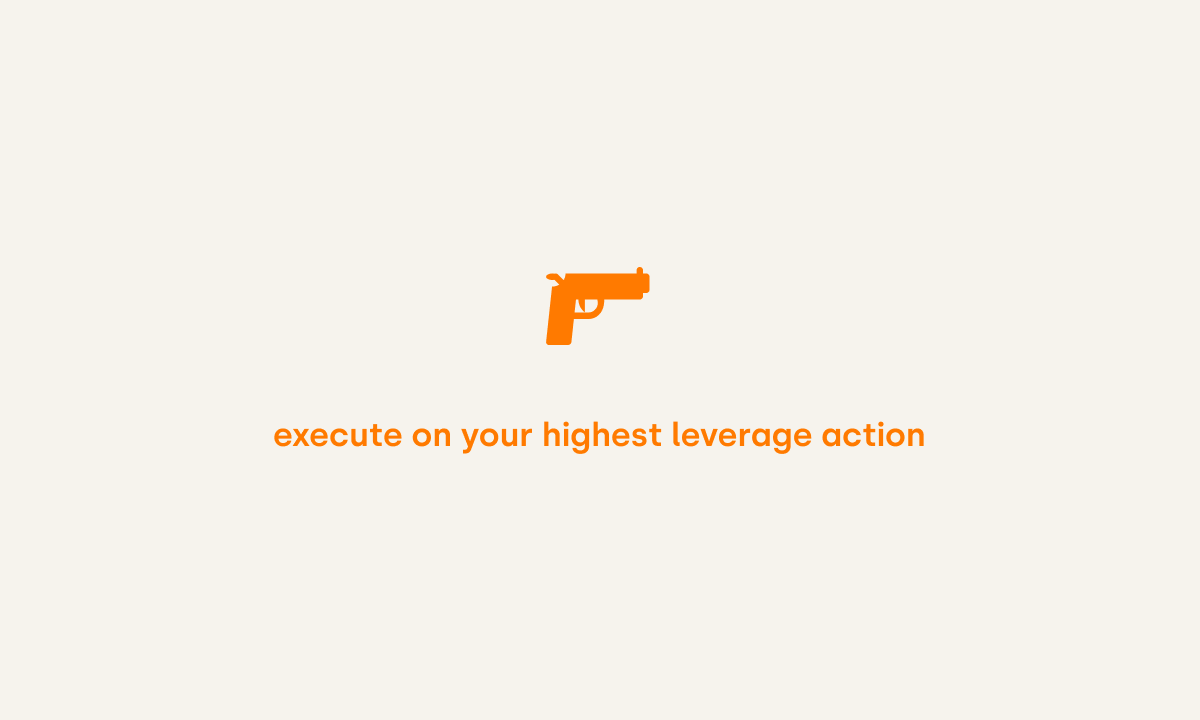 Execute on your highest leverage action