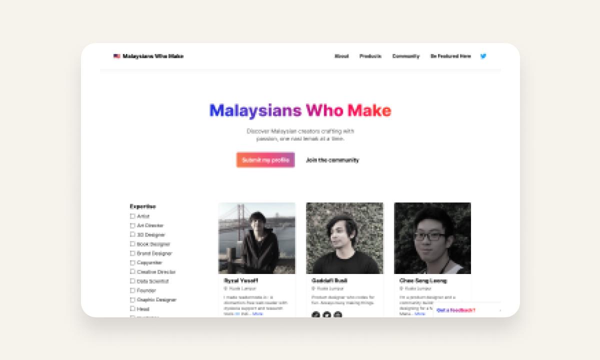 How I built Malaysians Who Make