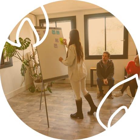 Espace de travail - réunion dans la bulle