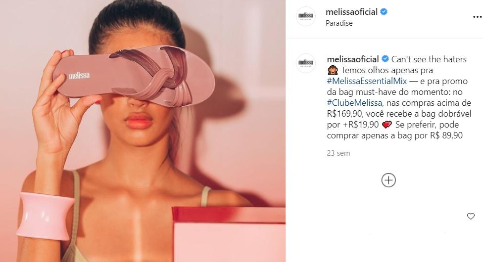 Foto da sandália Melissa modelo Essential Mix