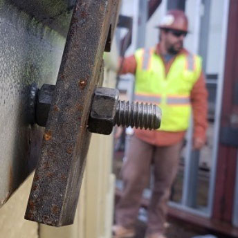 Close up of masonry bolt