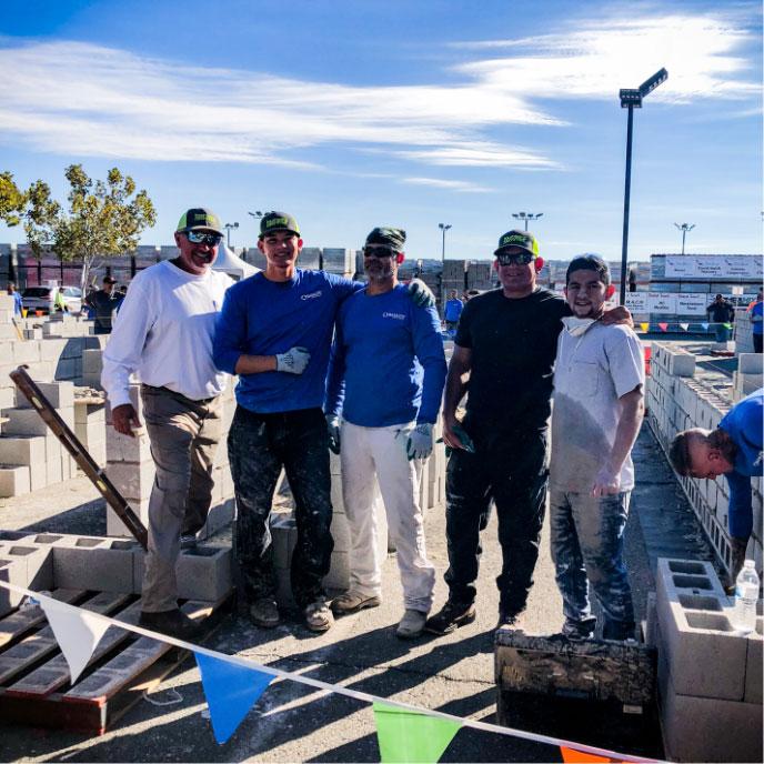 Townsend & Schmidt Masonry team at the job site