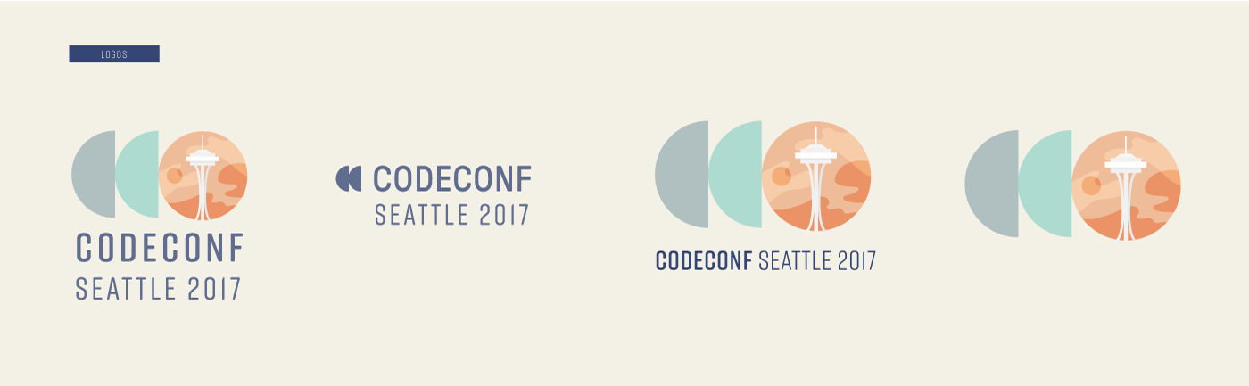 logo variations for code conf