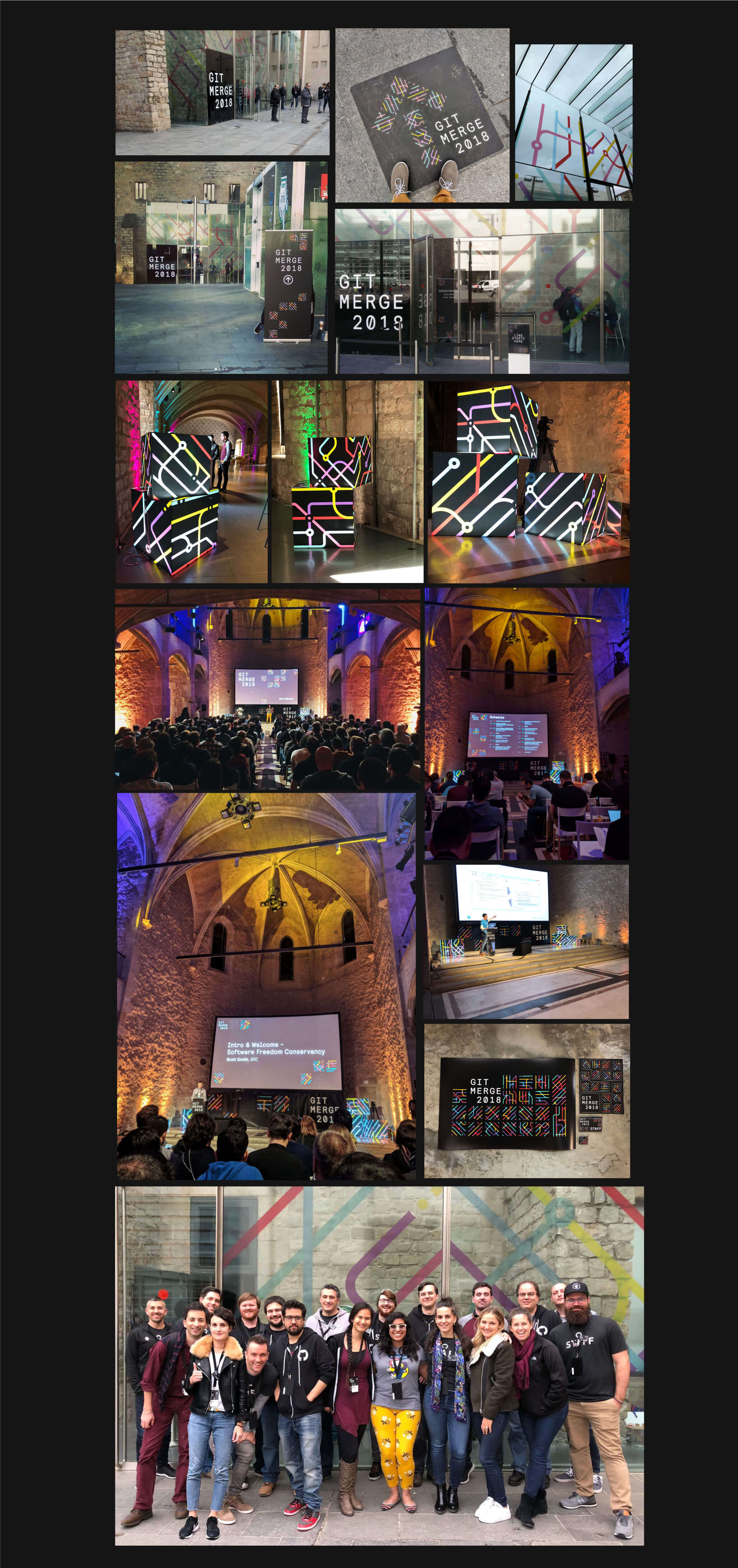gitmerge collage of conference photos