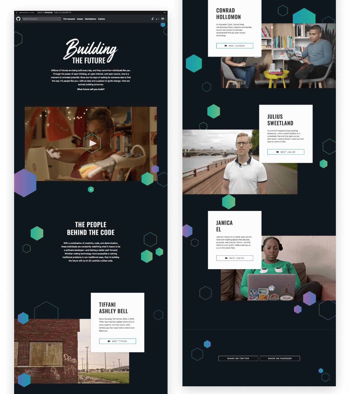 Building the future website