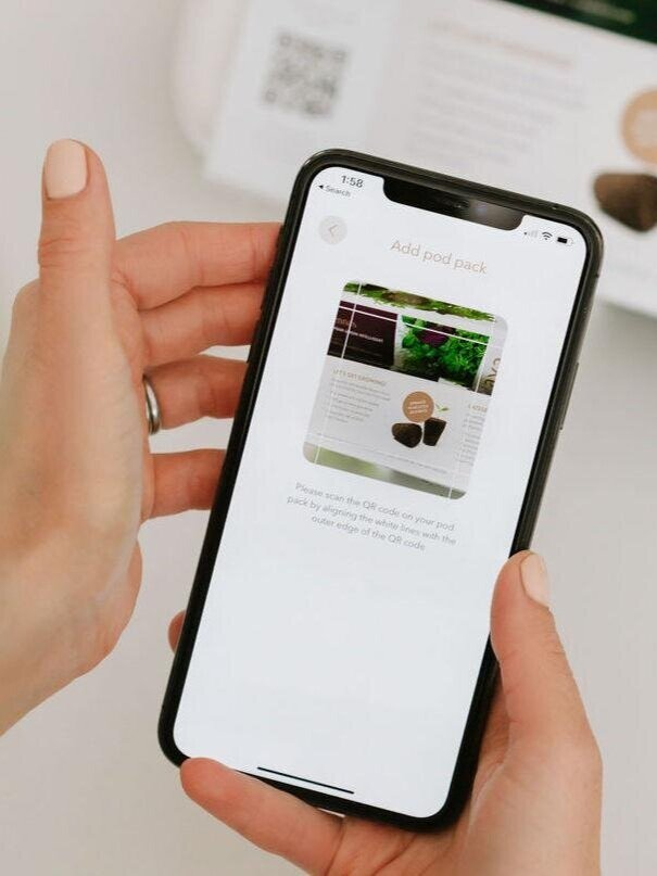 The AVA Smart Garden app displayed on an iPhone X.