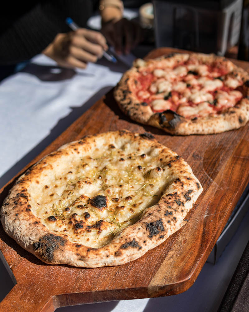 Handcrafted pizzas from Piante Pizza