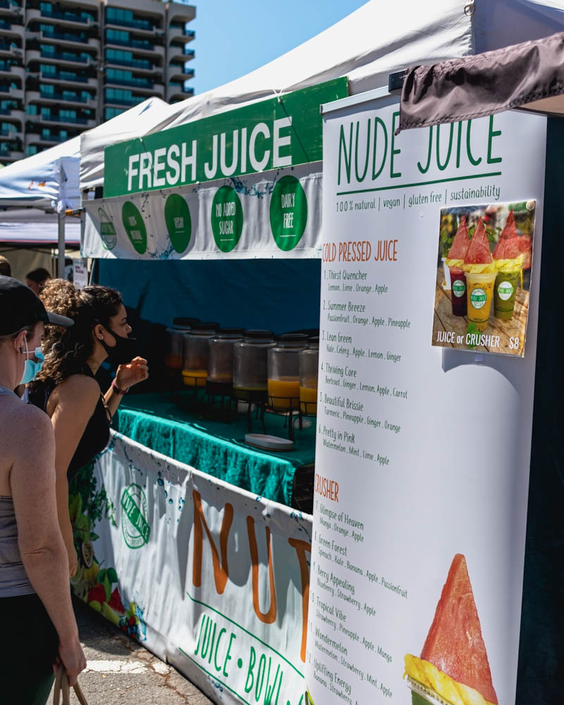 Fresh juice and smoothies