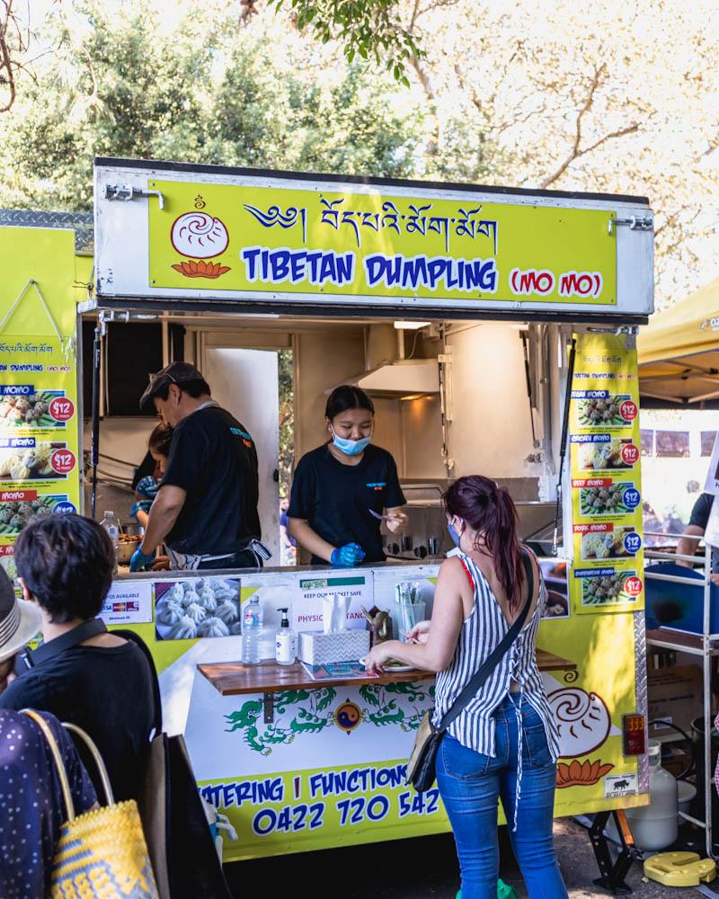Vegan option momo dumplings