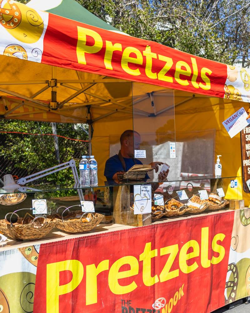 Vegan option pretzels
