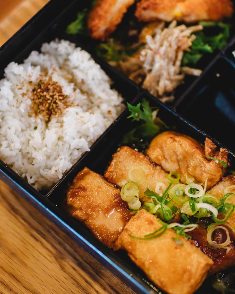 Teriyaki tofu bento