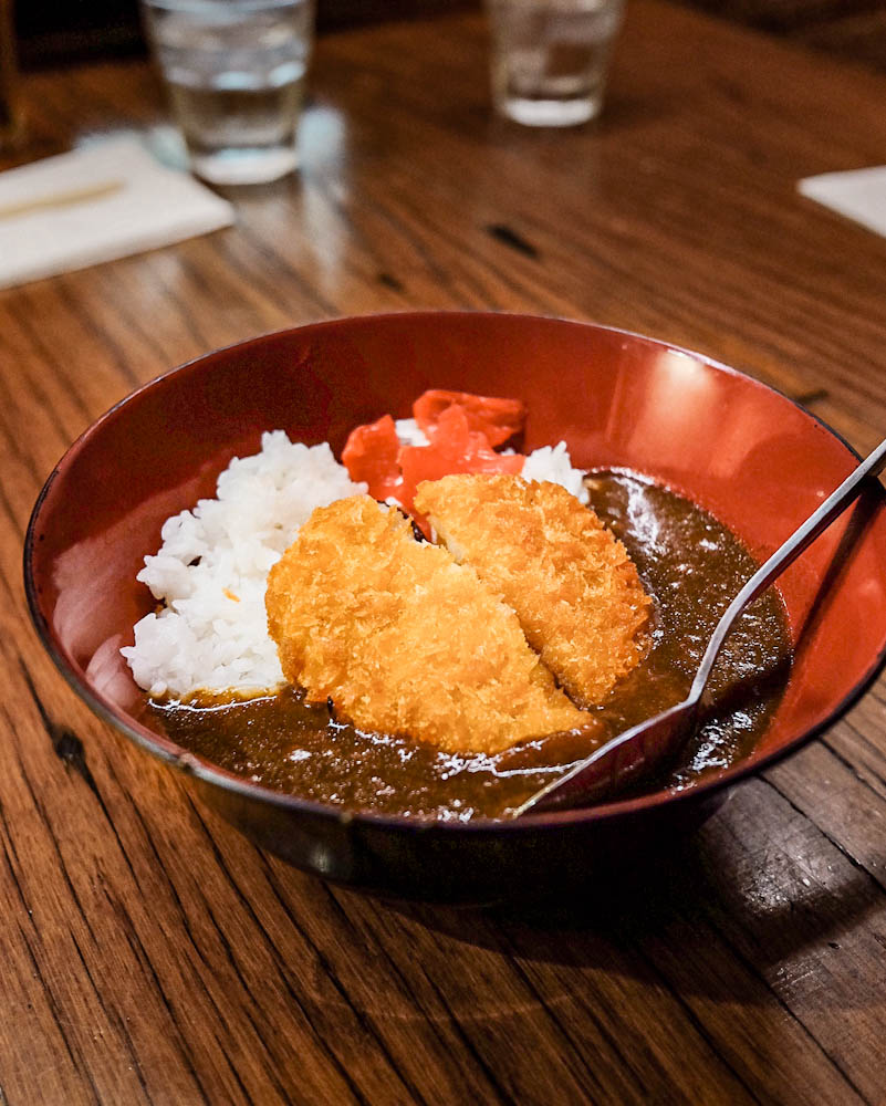 Croquette curry rice