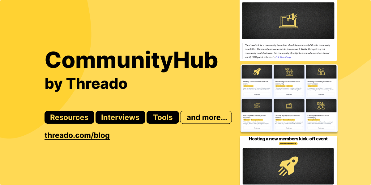 📢 CommunityHub, Twitter launching Ticketed Spaces, and more...