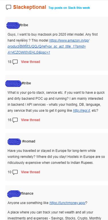 Remote Indian Newsletter Screenshot