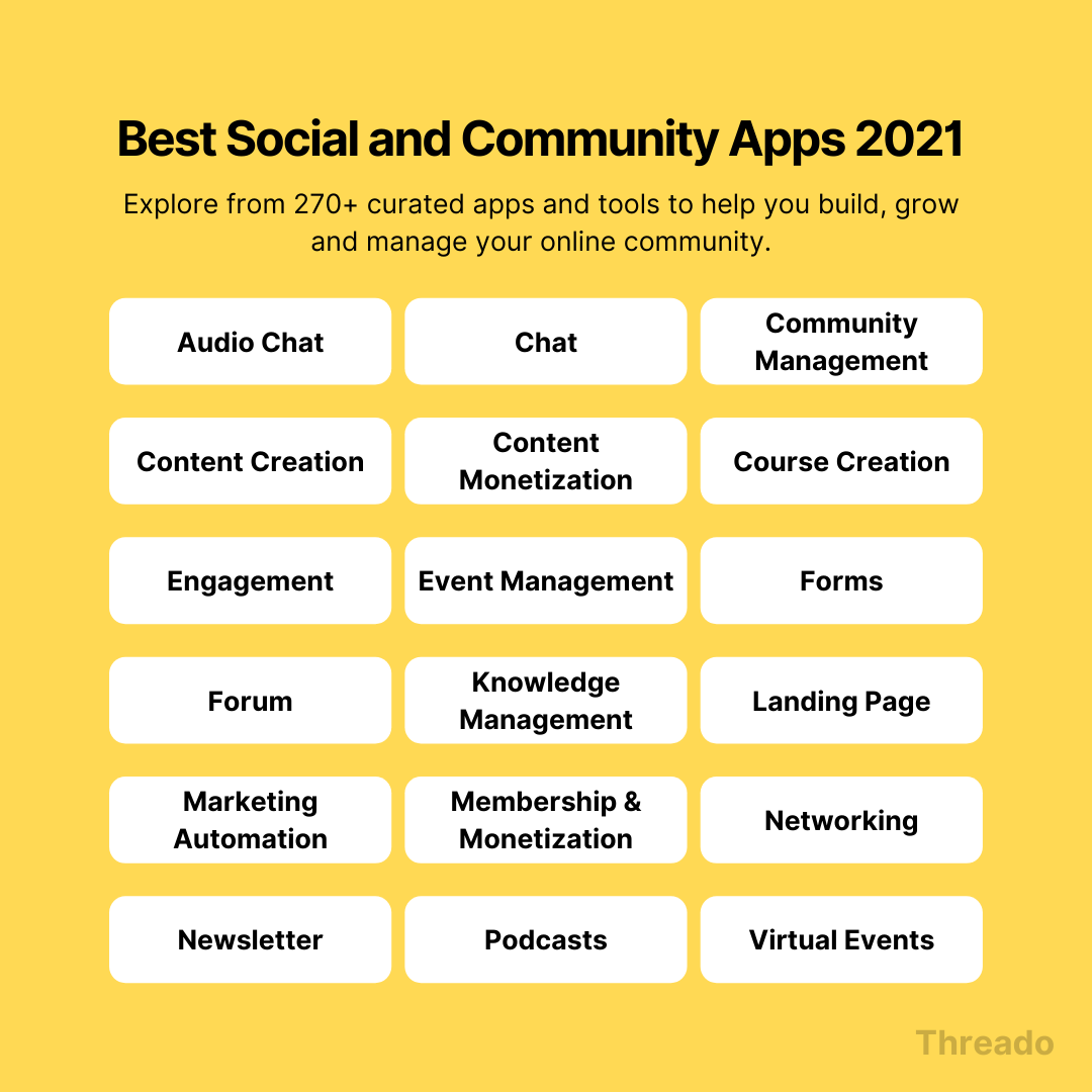 🛠� The ultimate community apps guide