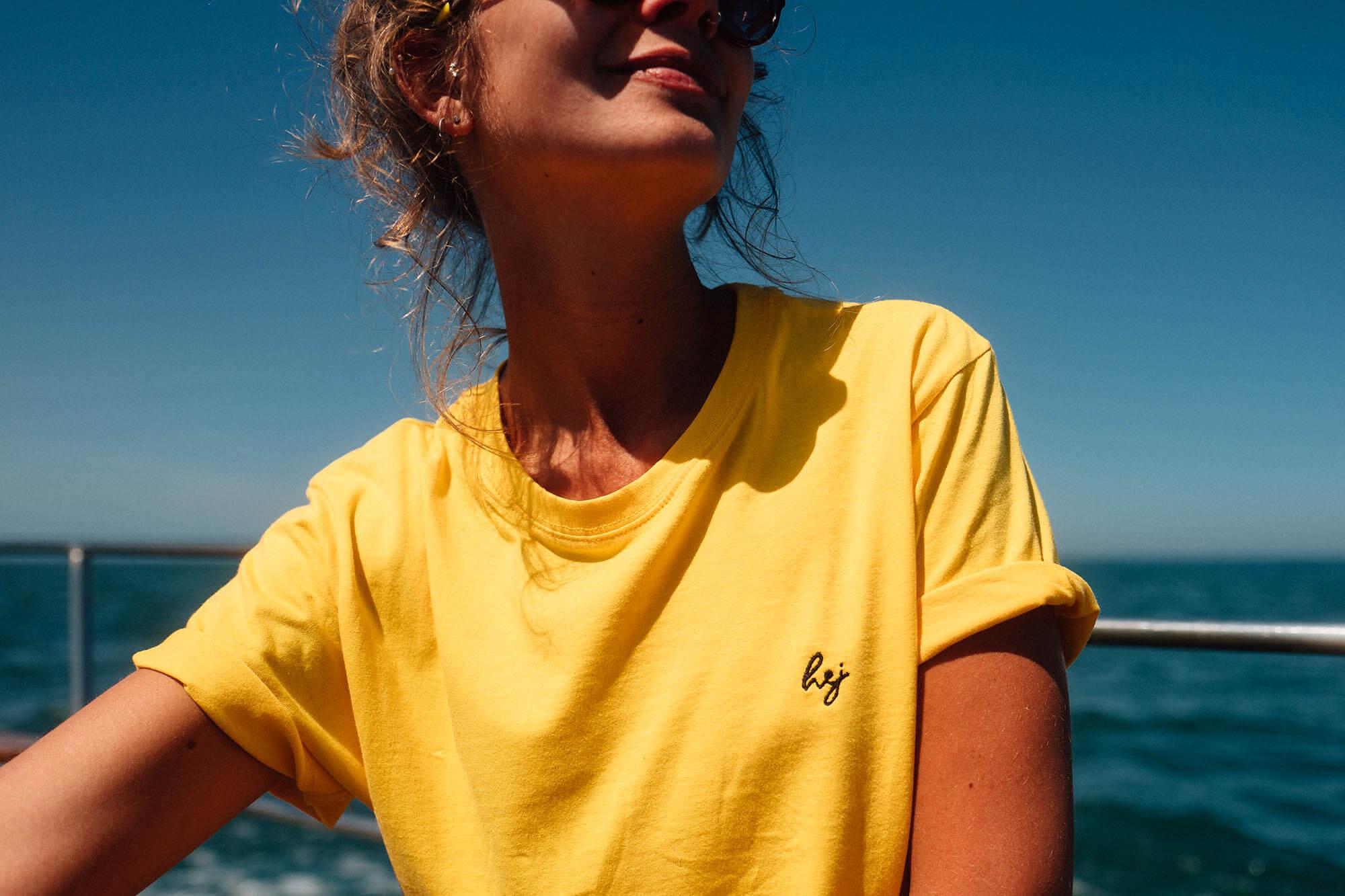 hejklamotten Gelbes T-Shirt