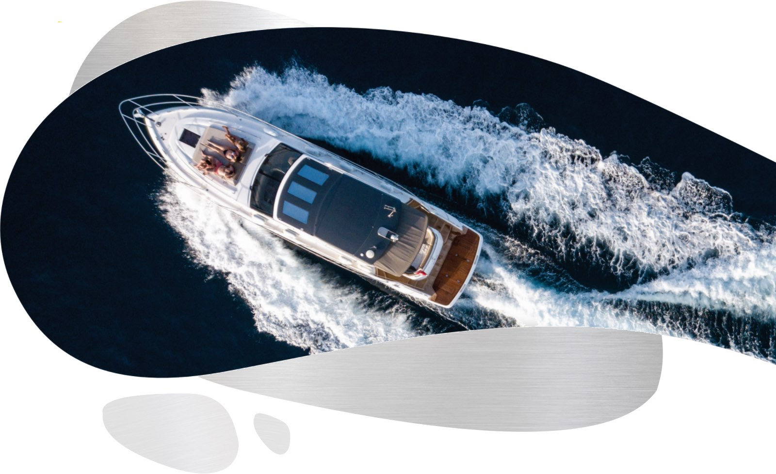 a birds eye view of a yacht
