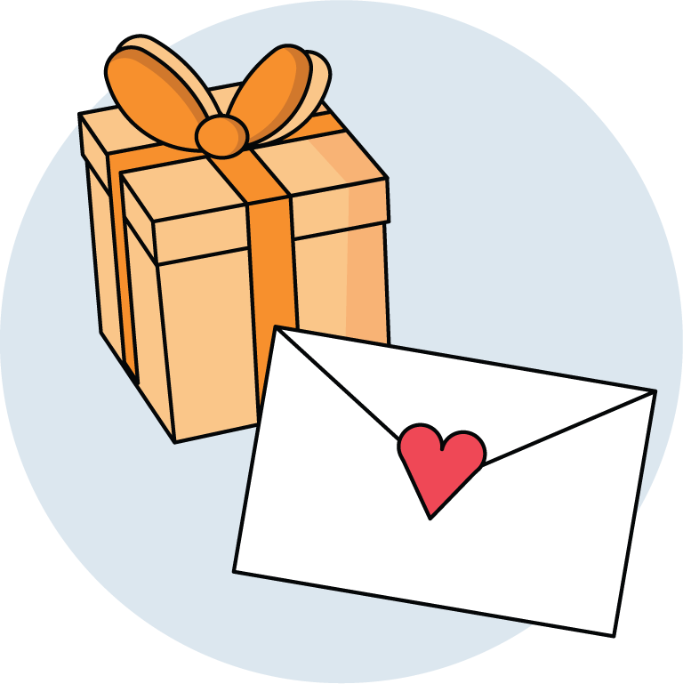 a personalized cash gift - gift with envelope & greeting by Greatest Gift