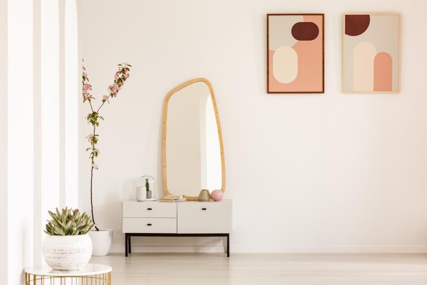 Off-white room with minimalist decor