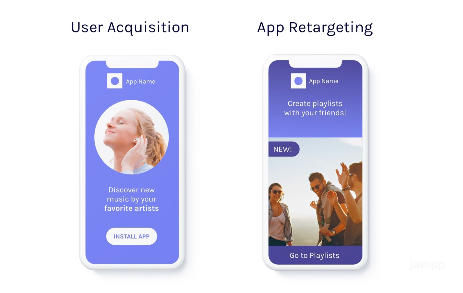 User Acquisition ad and App retargeting add