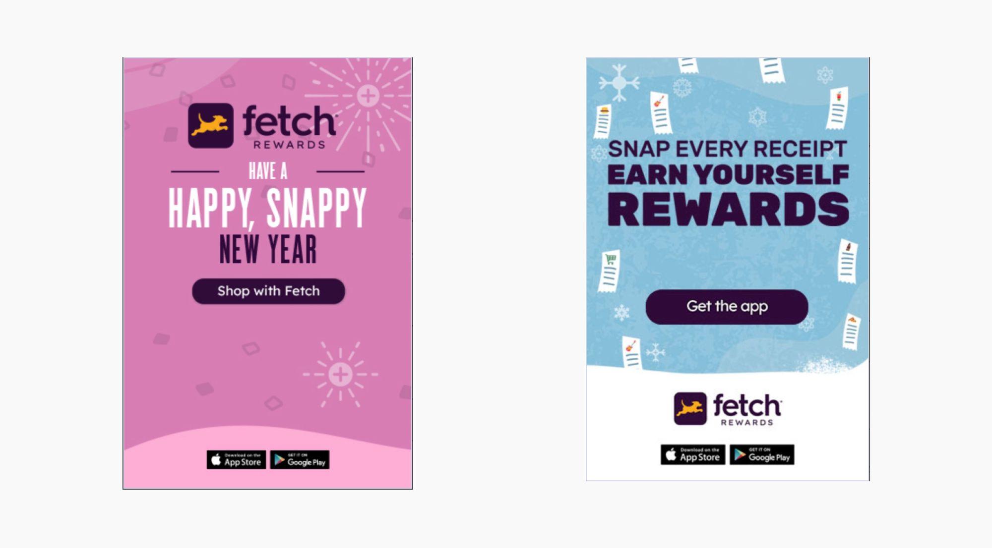 Fetch Rewards ads built with Dynamic Ads