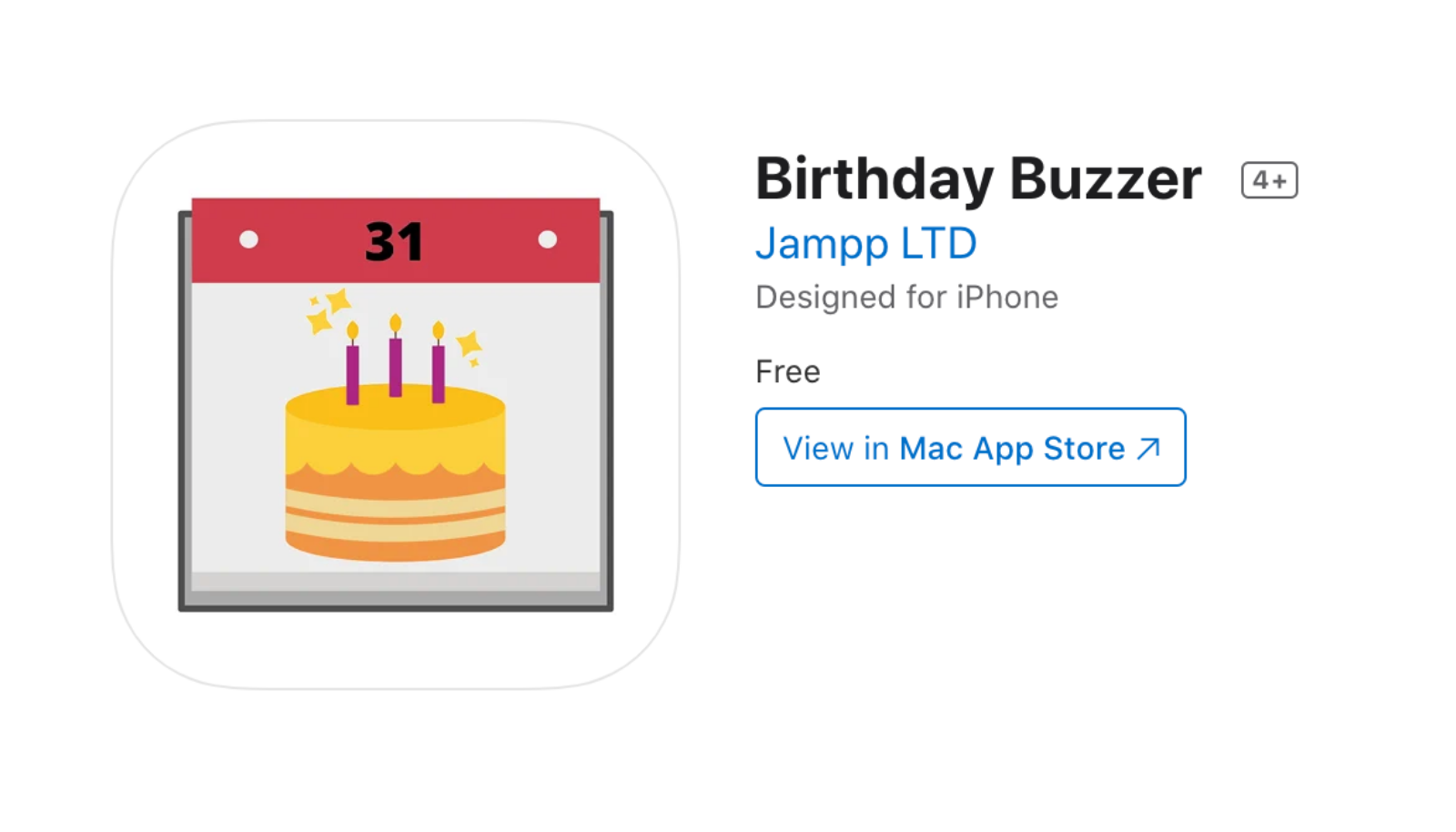 Jampp's Birthday Buzzer app
