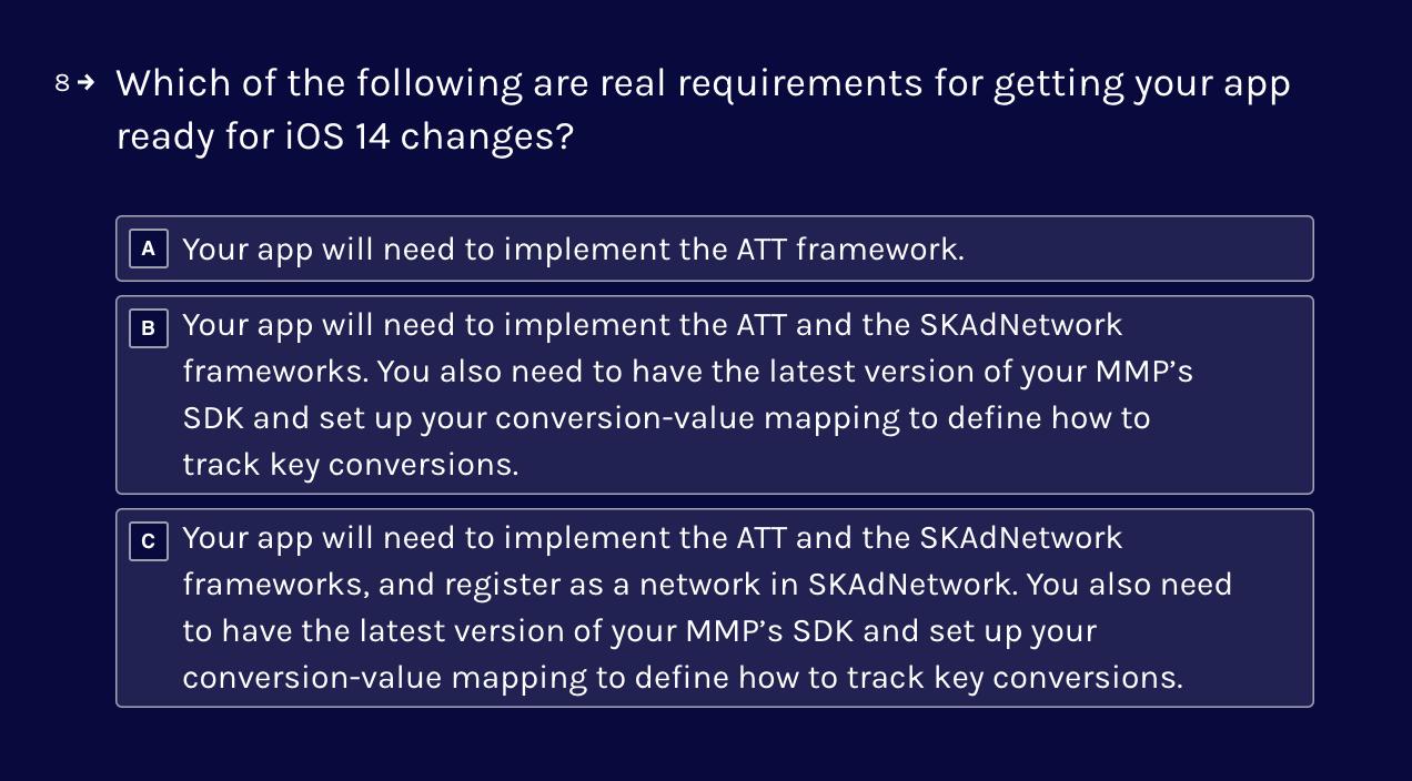 Jampp's SKAdNetwork quiz