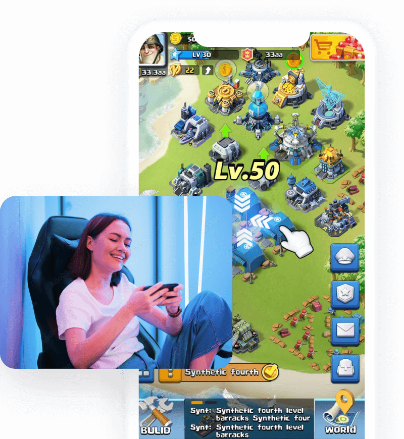Strategy mobile game