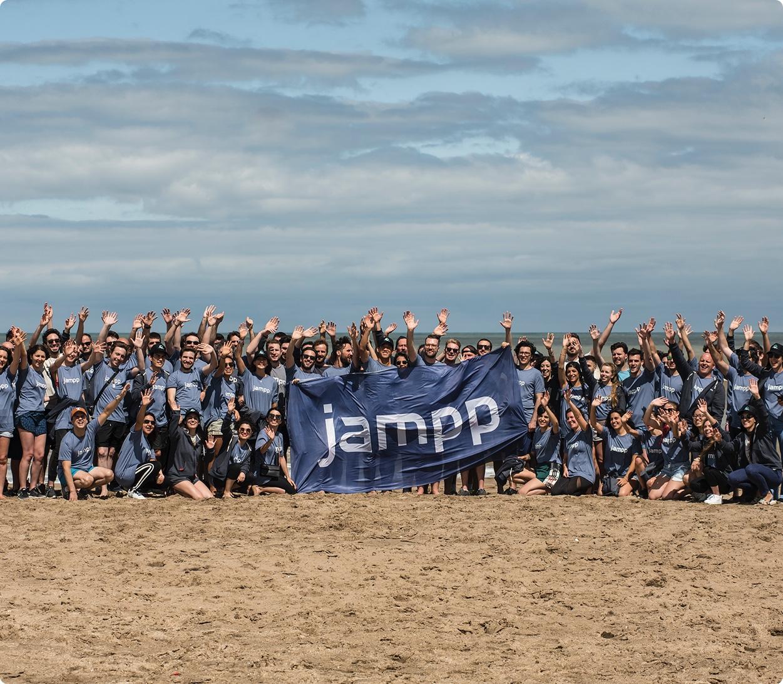Jampp team at an offsite event