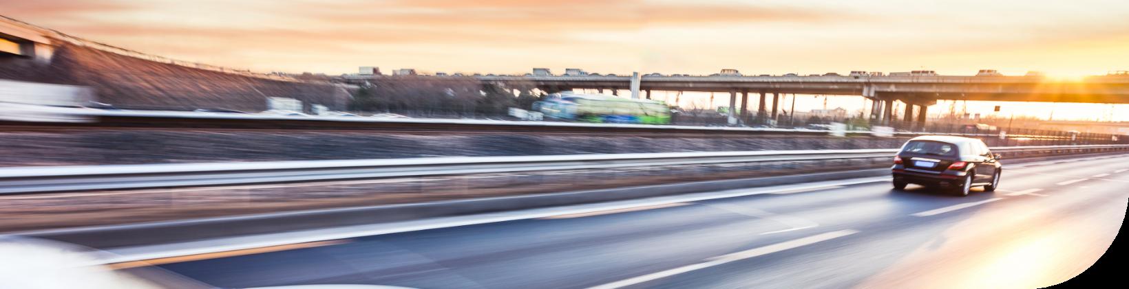 Vehicle on highway