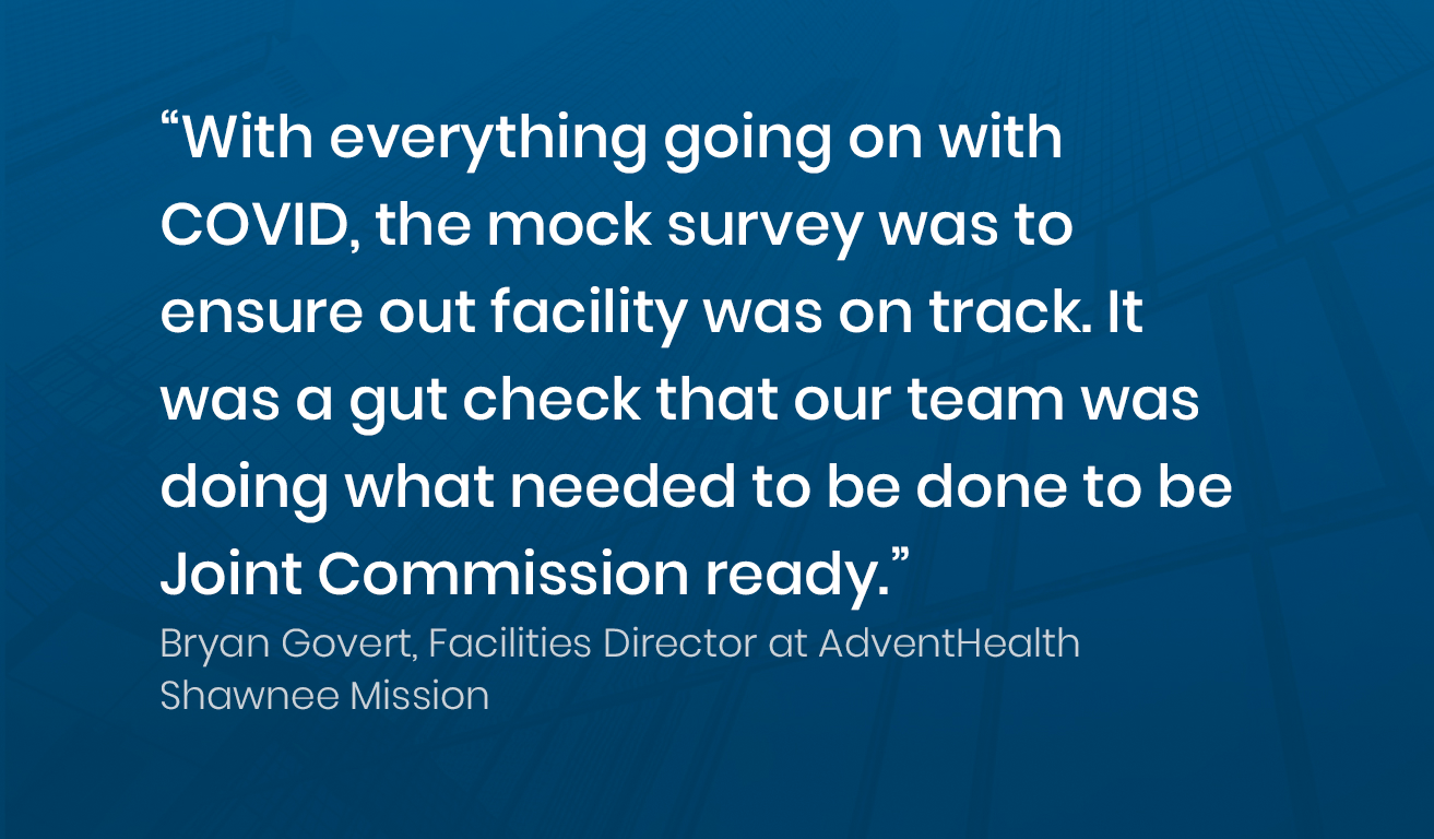 Quote from Brian Govert, Manager at AdventHealth Shawnee Mission about Soleran's mock survey form