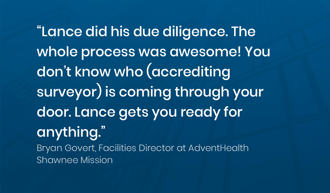Quote from Brian Govert, Manager at AdventHealth Shawnee Mission about his experience with Soleran