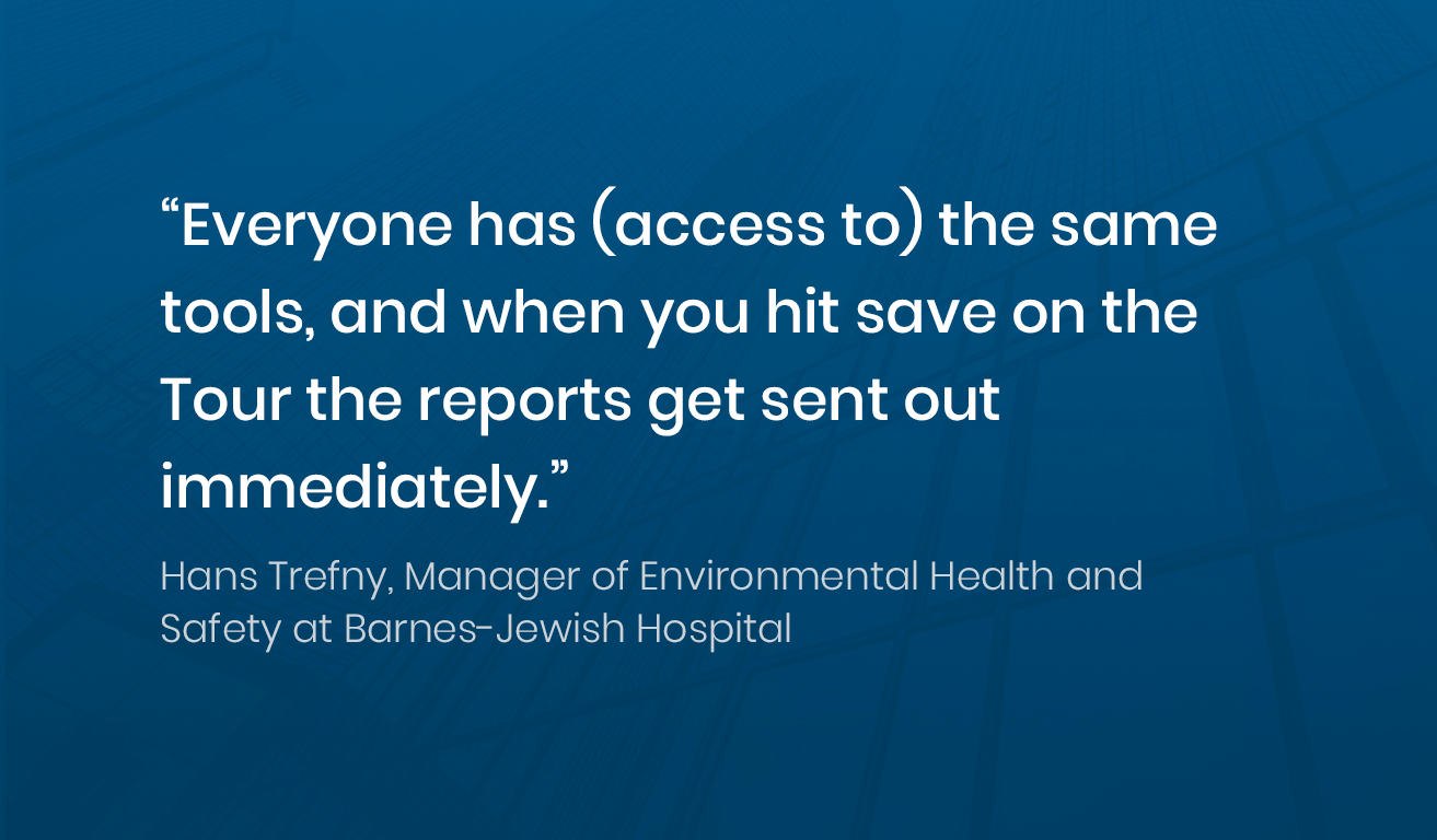 Quote from Hans Trefny, Manager at Barns-Jewish Hospital about Soleran's tools