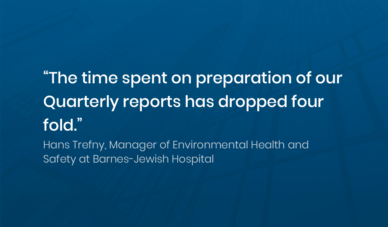 Quote from Hans Trefny, Manager at Barns-Jewish Hospital