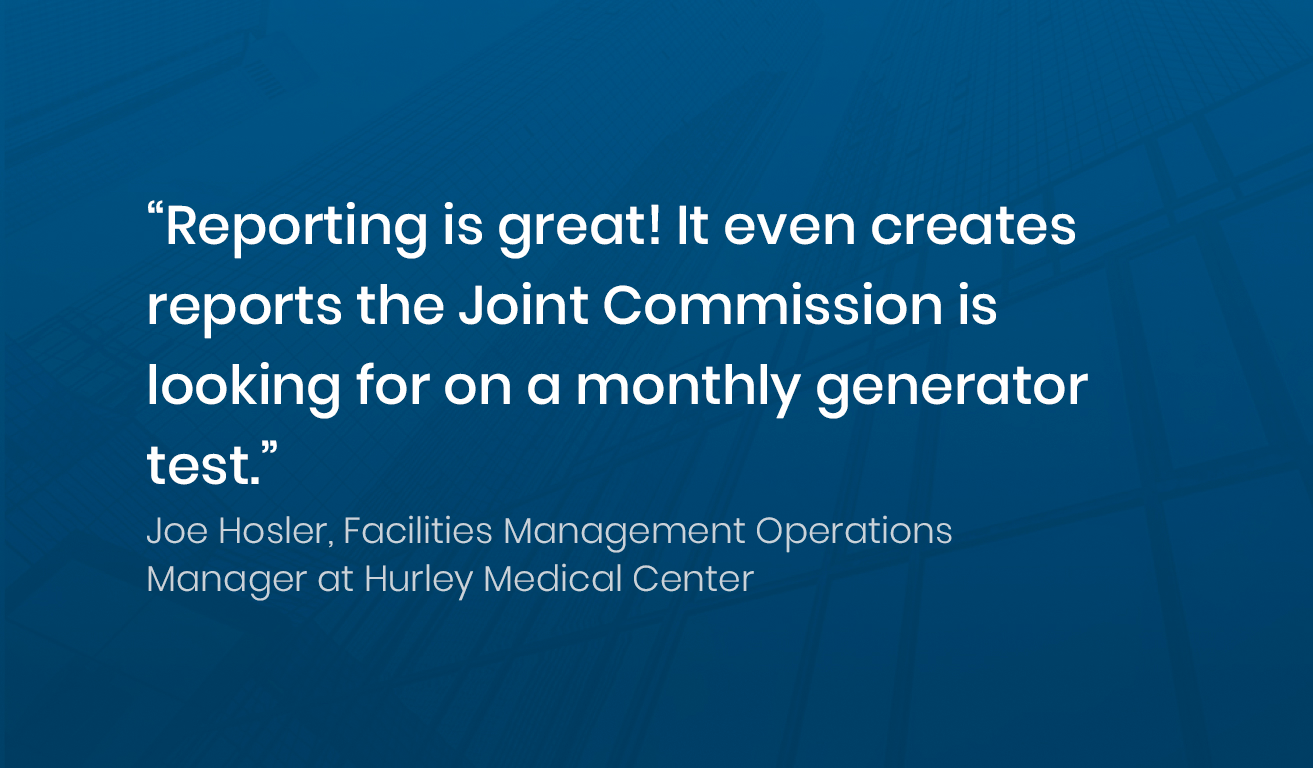 Quote from Joe Hosler, Manager at Hurley Medical Center about Soleran's reporting
