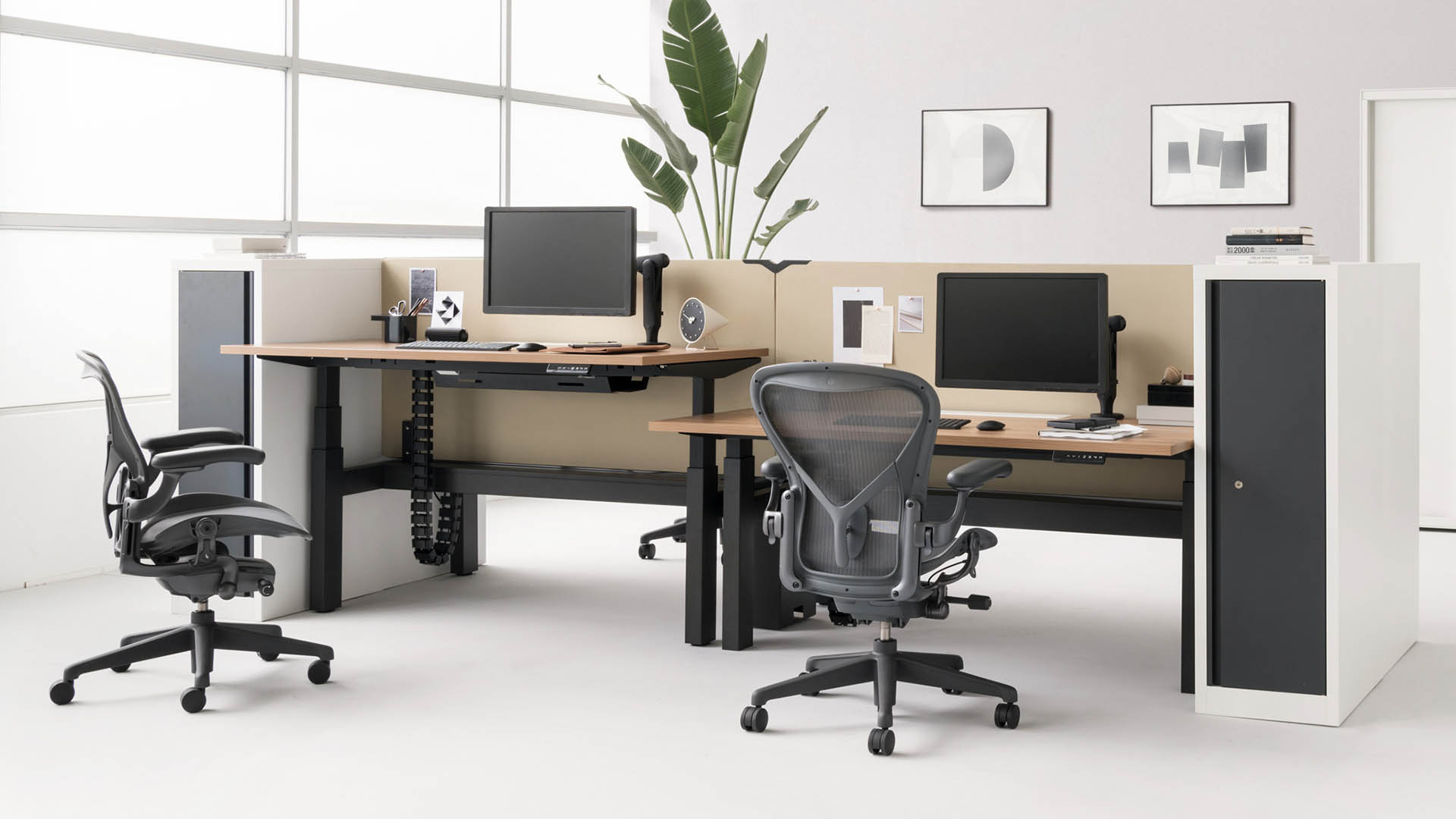 home office with herman miller chair