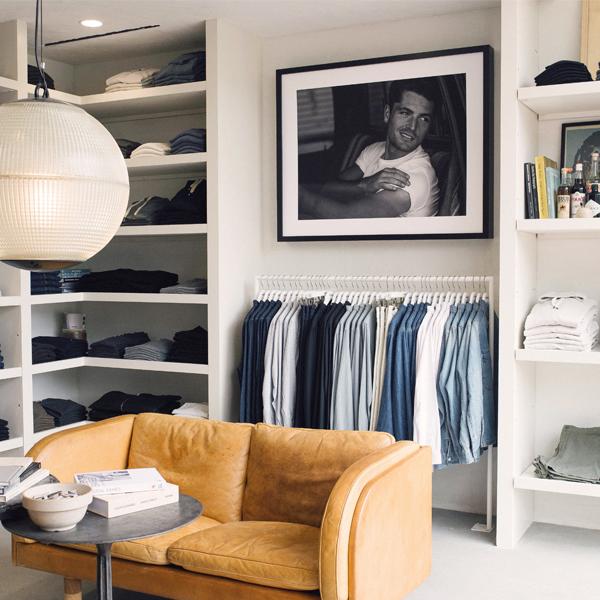 clothing store Buck Mason