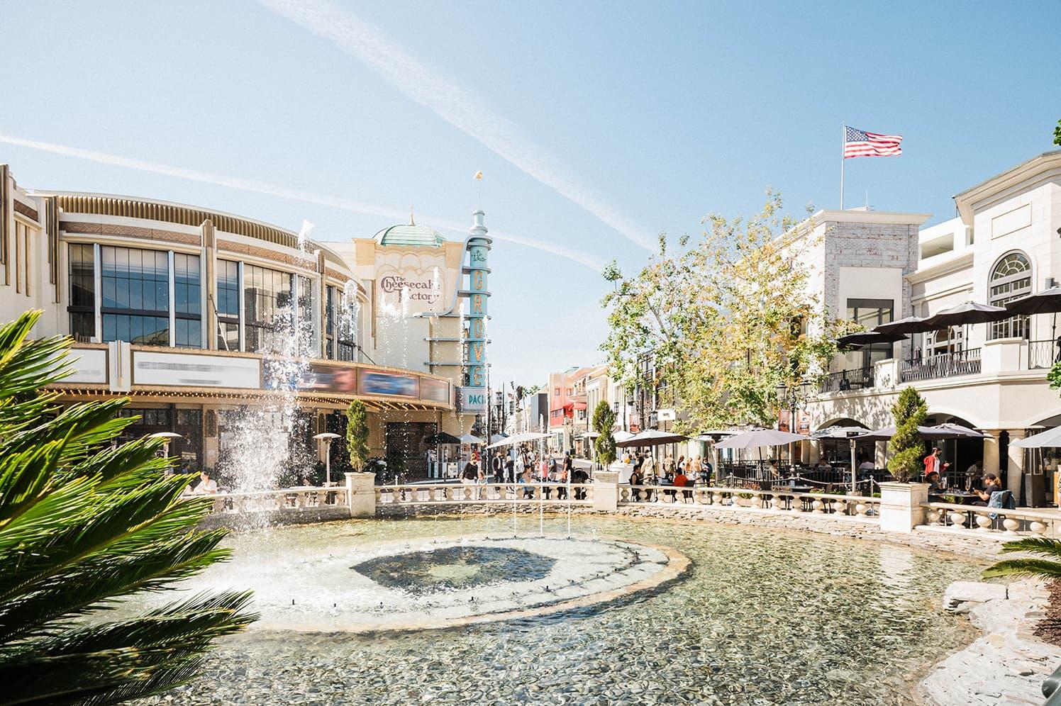 fountain in a sunny square