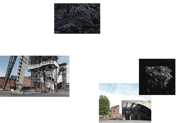 The Genk coal mines, a reference to theire heritage